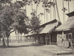 No. 40. Amerapoora. Barracks of the Burmese Guard.